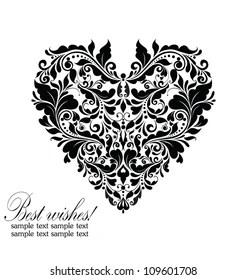 https www shutterstock com image vector wedding card black white 109601708
