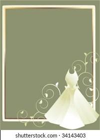 https www shutterstock com image vector wedding dress gray background 1 vector 34143403