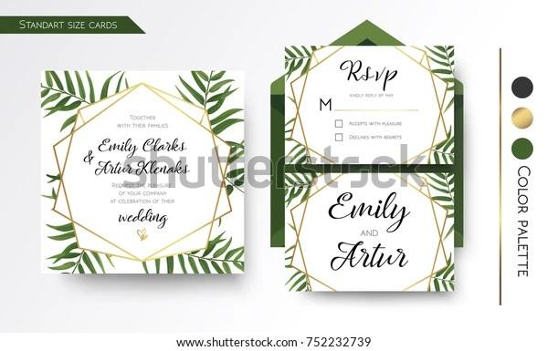 https www shutterstock com image vector wedding invitation save date rsvp invite 752232739