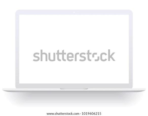 https www shutterstock com fr image vector white open laptop blank screen isolated 1019606215