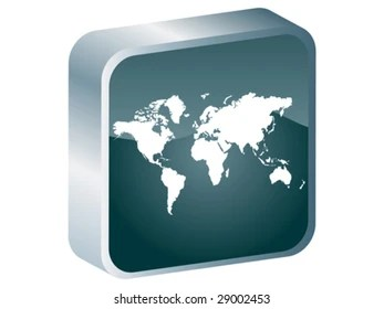 Icon Button Pictogram World Map Symbol Stock Illustration 324460808     world map button