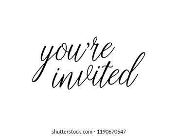 You Re Invited Vector Text Background