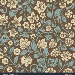 Royalty Free Vector Seamless Vintage Floral Pattern 165222287
