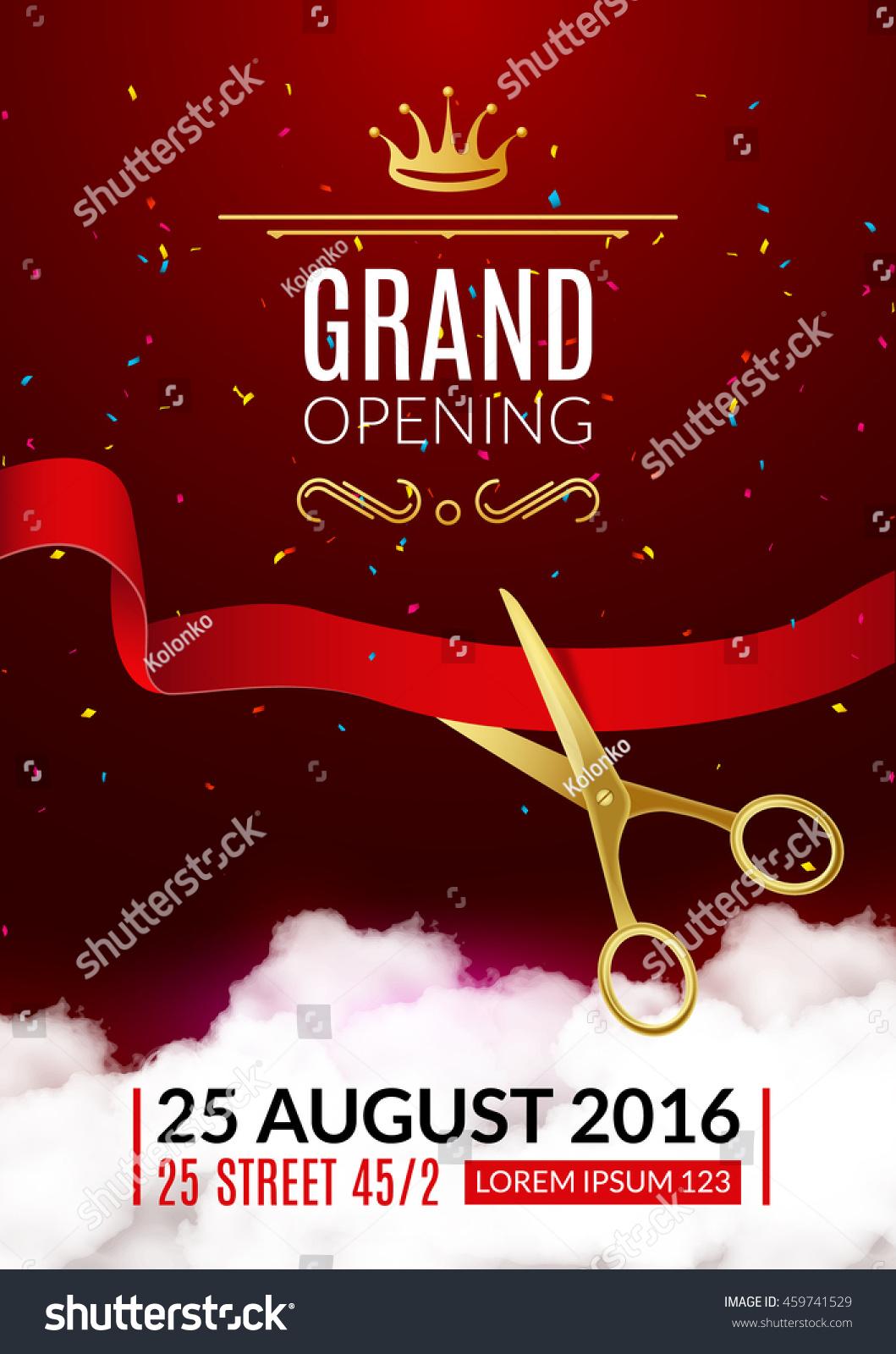 grand opening invitation card grand
