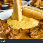 3dimensional Presentation Grits Shrimp Other Seafood Stock Photo Edit Now 1493475179