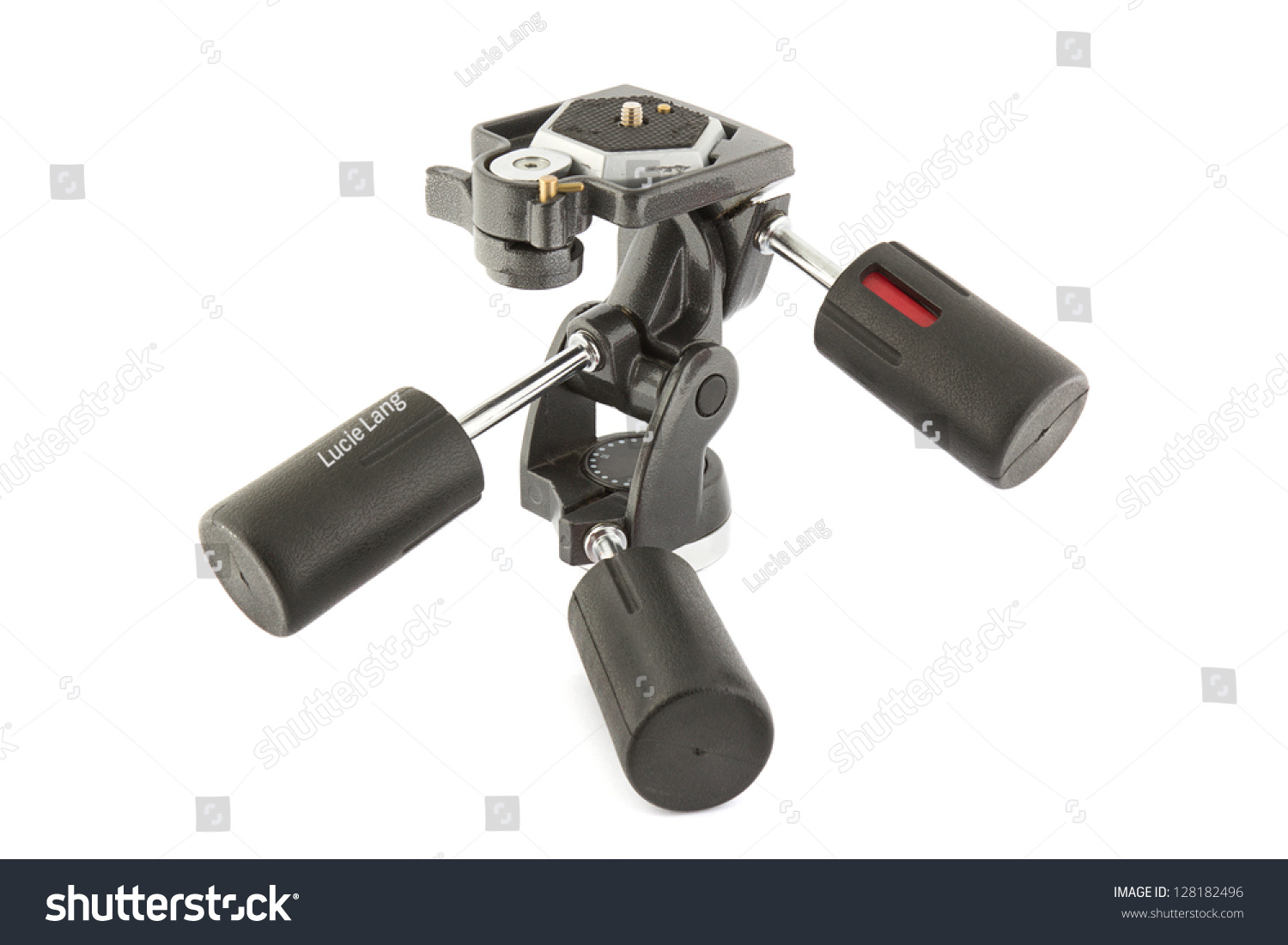 3 Way Pan Tilt Tripod Head On A White Background Stock Photo 128182496 : Shutterstock
