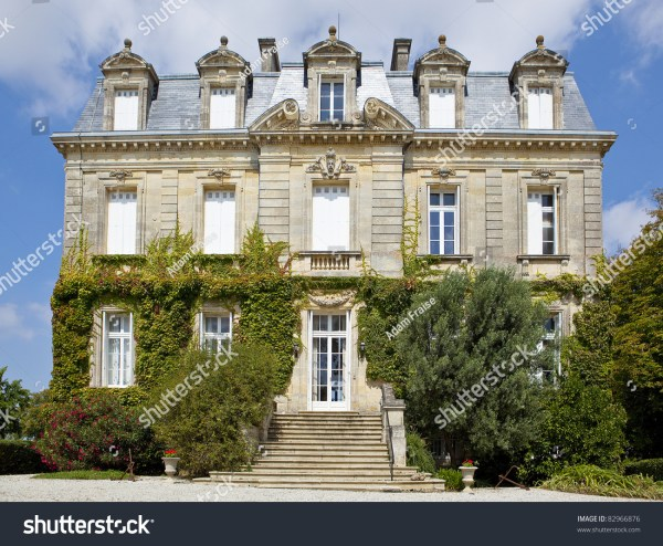 Beautiful Old French Chateau Stock Photo 82966876 ...