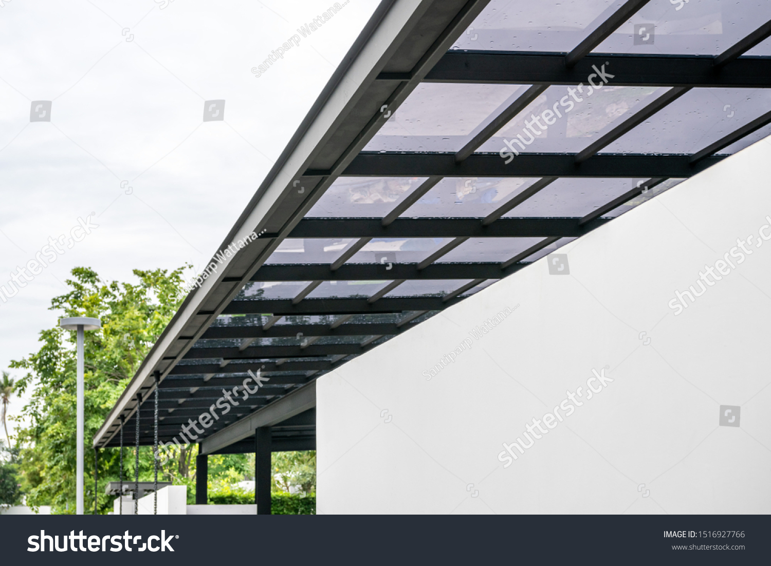 https www shutterstock com image photo acrylic transparent roof sheeting close outdoor 1516927766