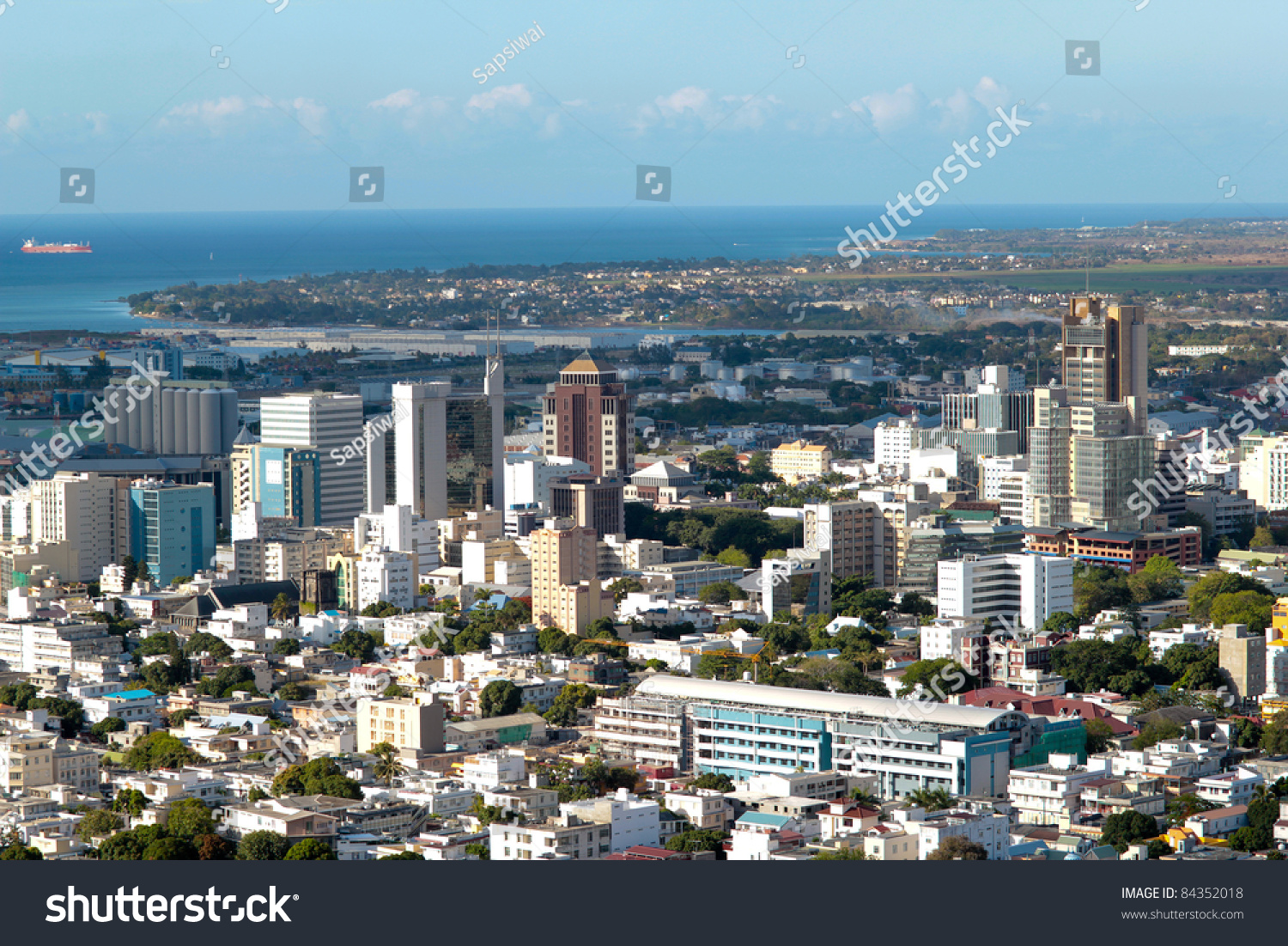Aerial View Of Port-Louis Capital Of Mauritius Stock Photo 84352018 : Shutterstock