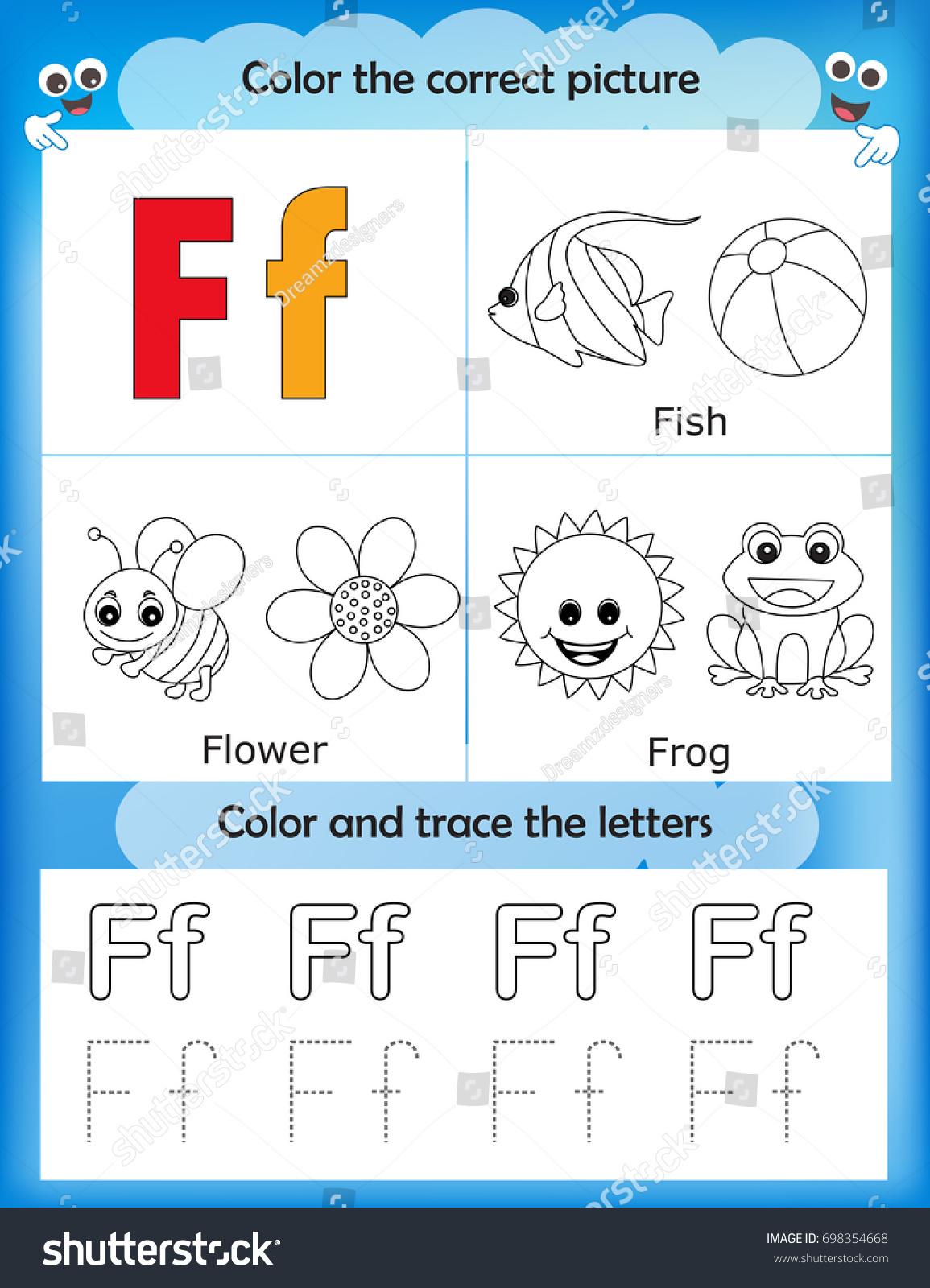 Kindergarten In Spanish Letter F Worksheet Kindergarten