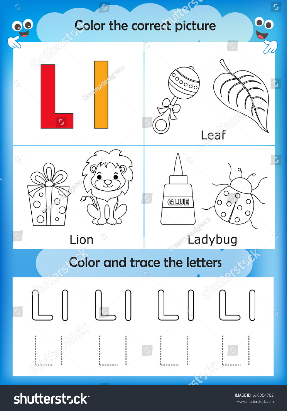 Worksheet For Preschool Letter L Ladybug Worksheet Best
