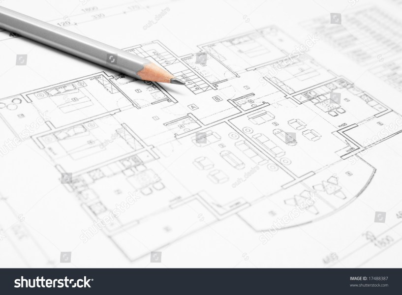 Architectural Blueprint House Plan Closeup Pencil Stock Photo  Edit     Architectural blueprint of house plan closeup with a pencil