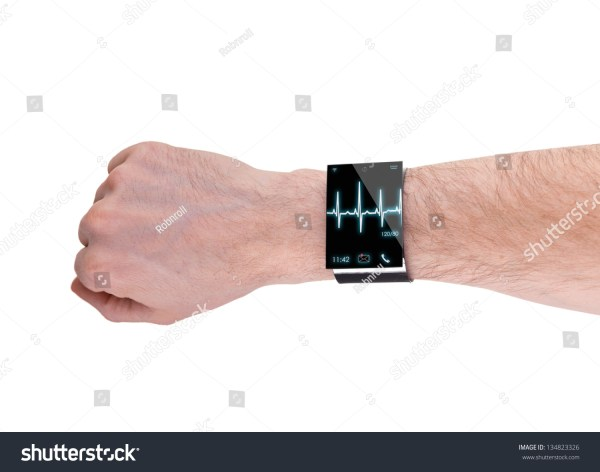 Arm Modern Internet Smartwatch Isolated On Stock Photo ...