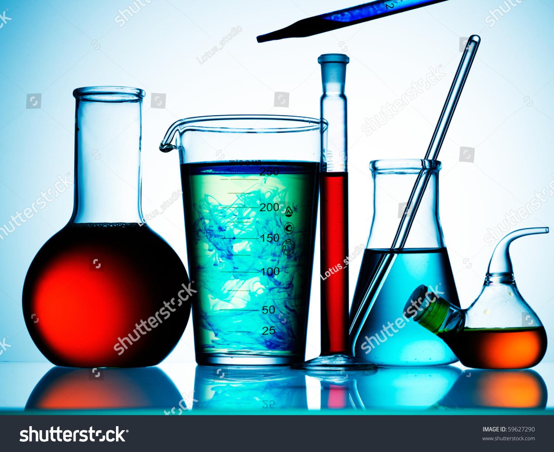 Assorted Laboratory Glassware Equipment Ready Experiment