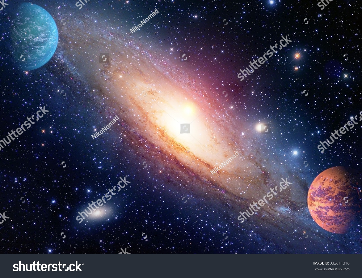 Astrology Astronomy Outer Space Big Bang Stock Photo