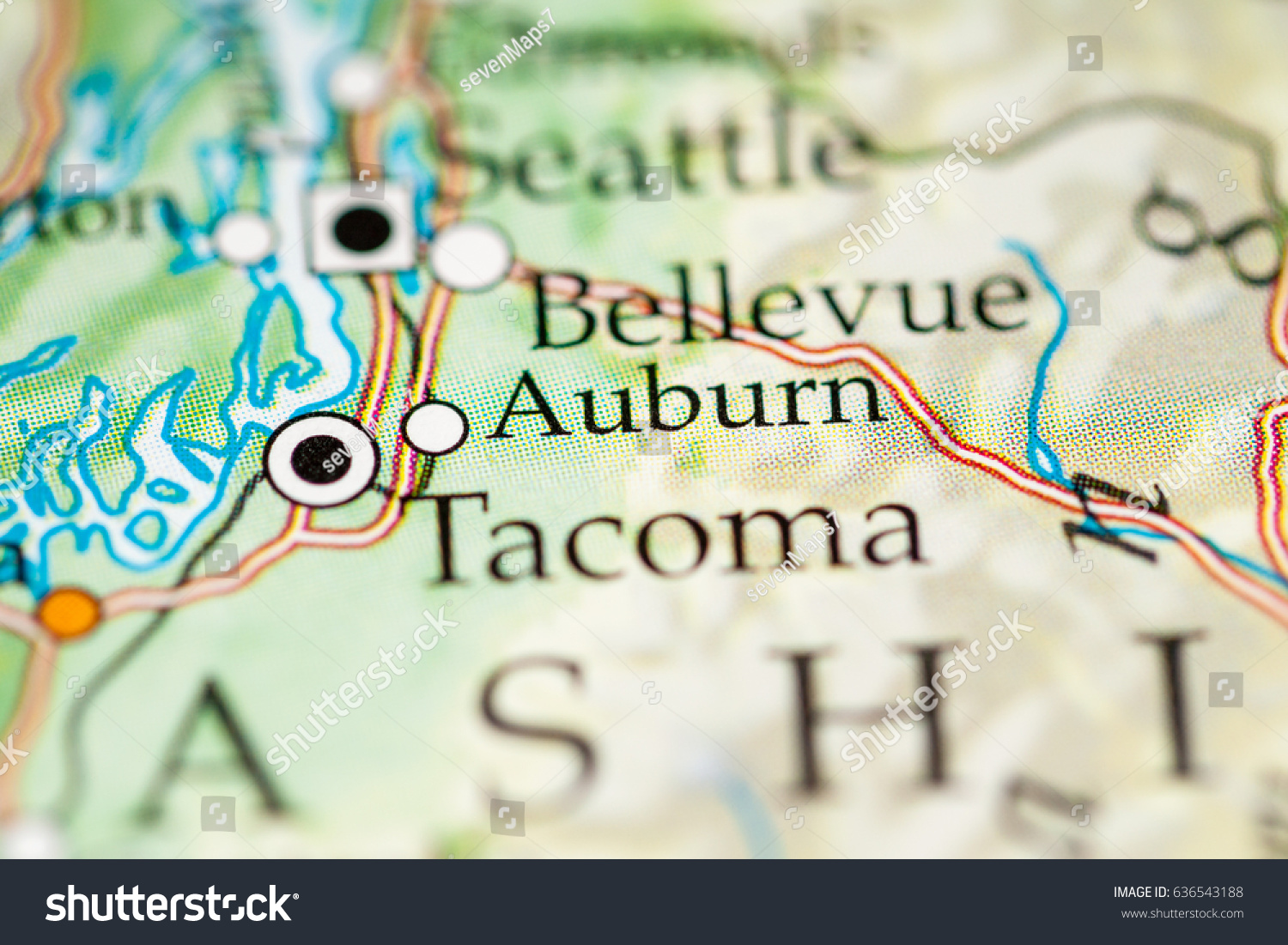 similar to Washington Map Seattle Tacoma