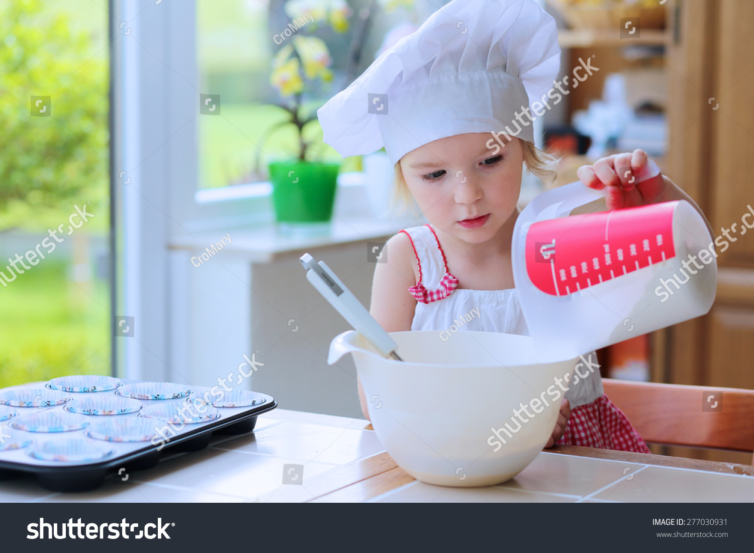 Baking With Children Little Happy Kid Adorable Toddler