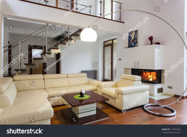 Big Comfortable Living Room Bright Sofa Stock Photo ... on Comfortable Living  id=17320