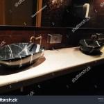 Black Marble Sink Faucet Bathroom Washroom Stock Photo Edit Now 1551568112