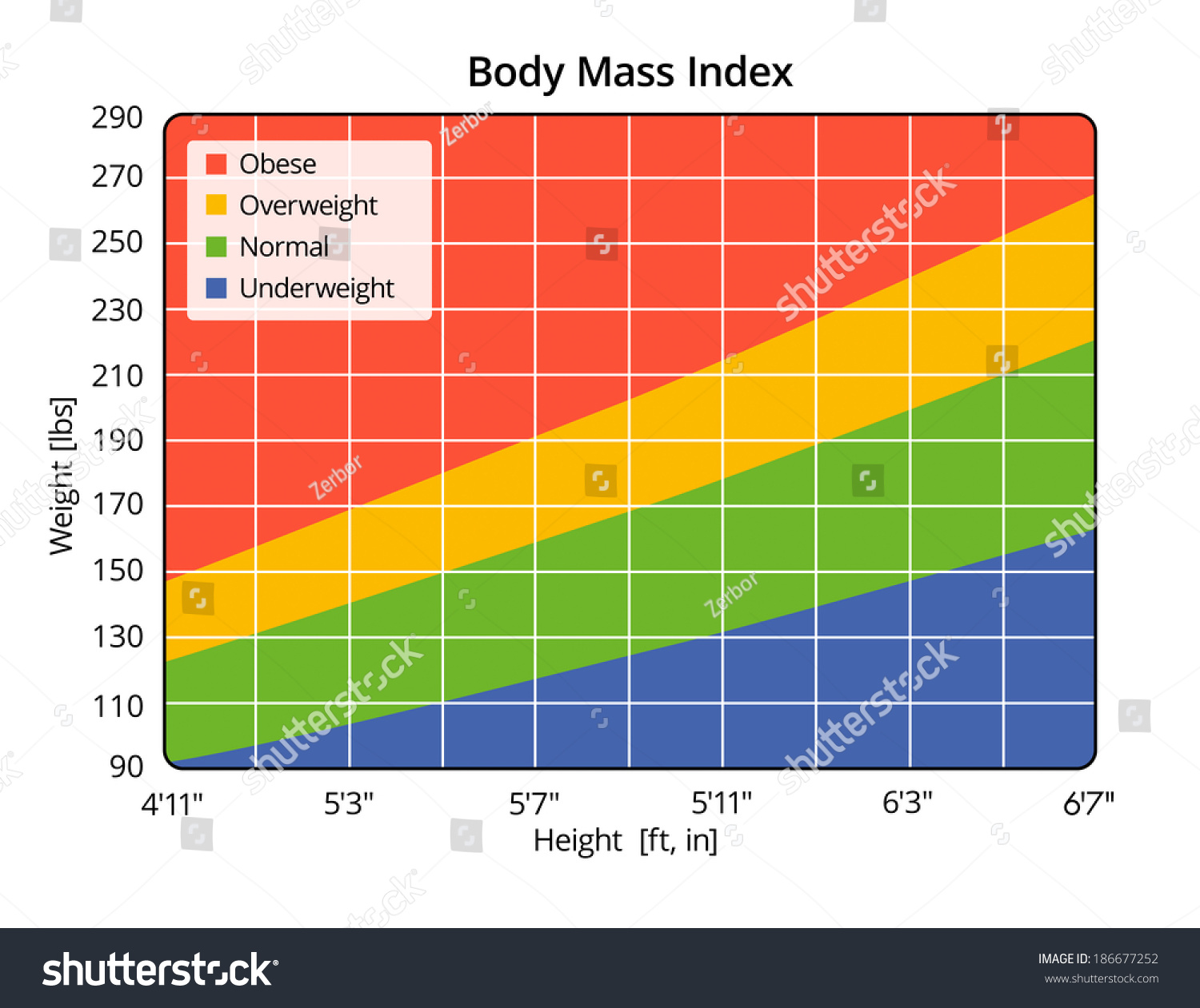 Body Mass Index In Lbs And Ft In Stock Photo