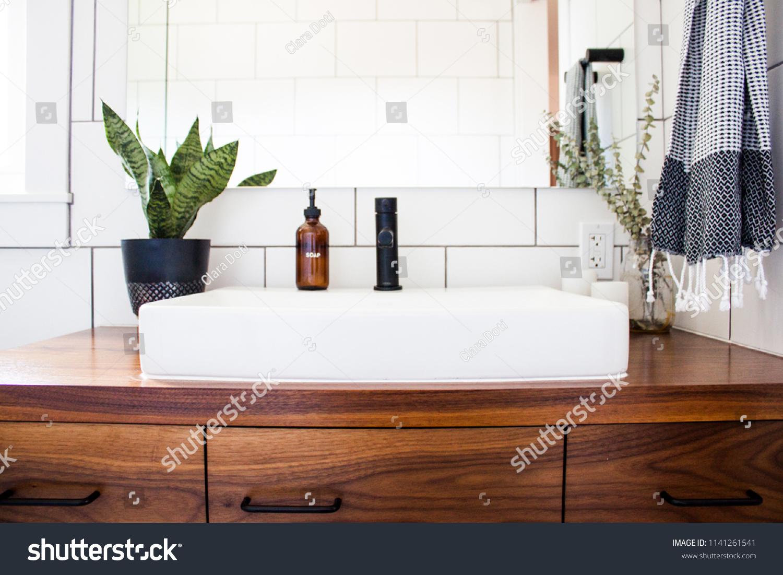 https www shutterstock com image photo bright white modern bathroom sink vanity 1141261541