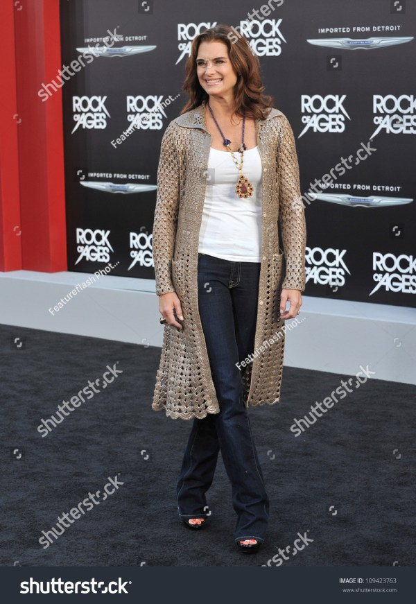 """Brooke Shields At The World Premiere Of """"Rock Of Ages"""" At ..."""