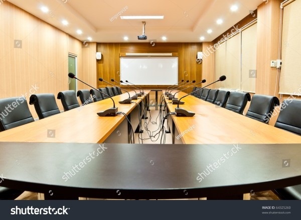 Business Meeting Room Or Board Room Interior Stock Photo
