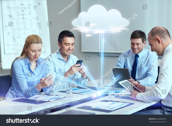 Business People Cloud Computing Technology Concept Stock ...
