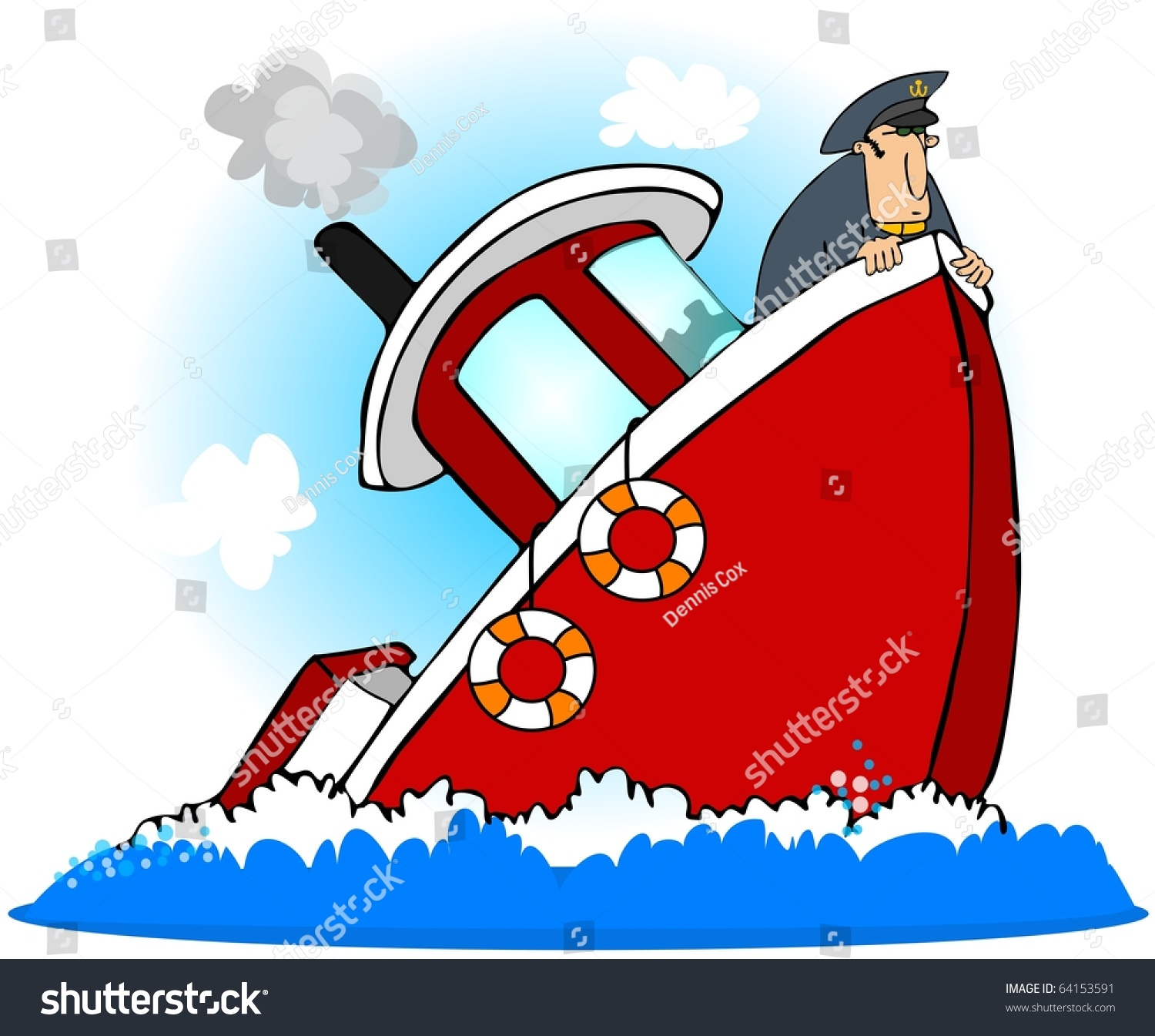 Captain Of A Sinking Ship Stock Photo Shutterstock