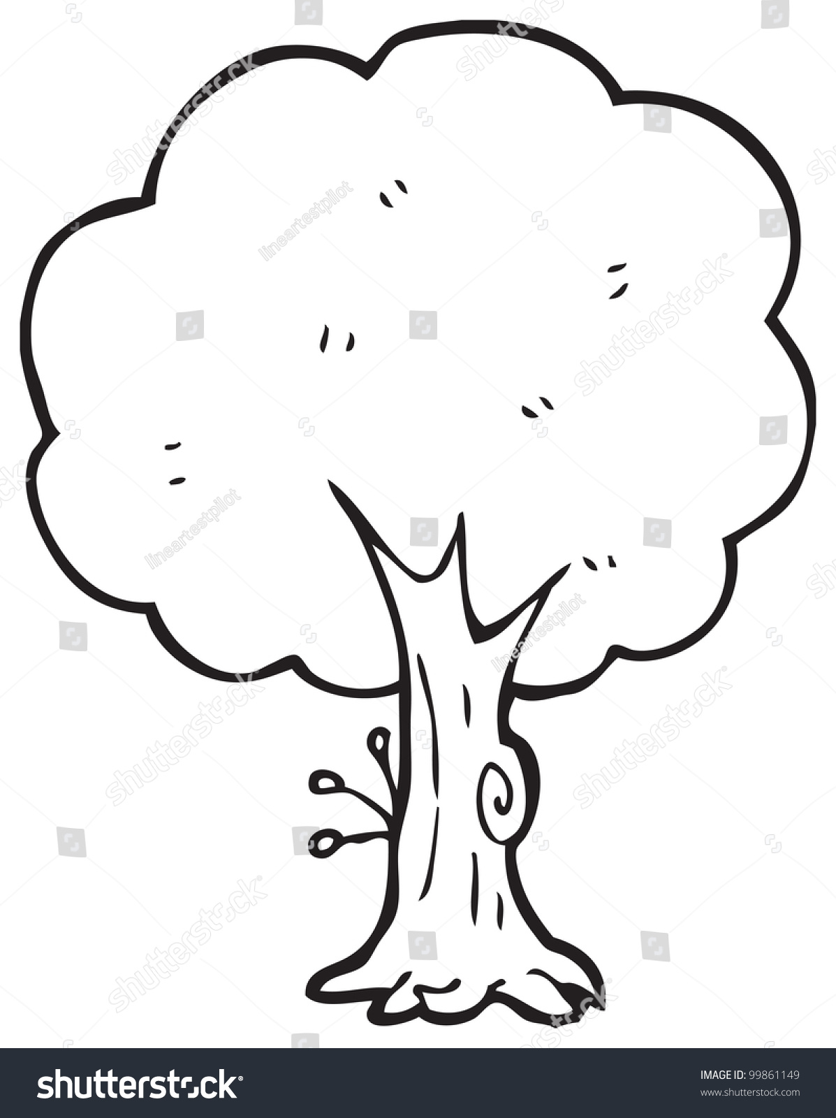Cartoon Tree Stock Illustration 99861149 Shutterstock