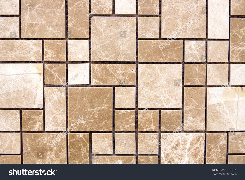 Ceramic Decorative Tiles Different Textures Covering Stock