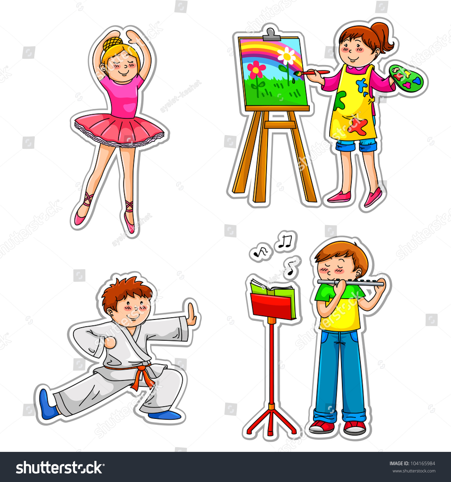 Children Their Hobbies Vector Available My Stock