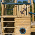 Childrens Playground Wooden Boat Climb Stock Photo Edit Now 1072262924