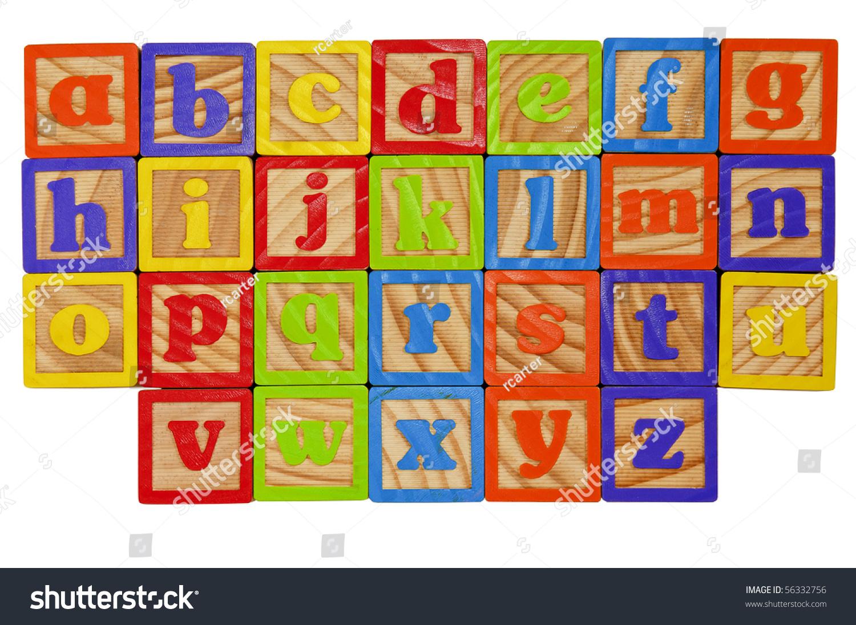 Childrens Alphabet Blocks Of The Whole Alphabet In Lower