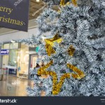 Close Grey Gold Christmas Tree Mall Stock Photo Edit Now 226239499