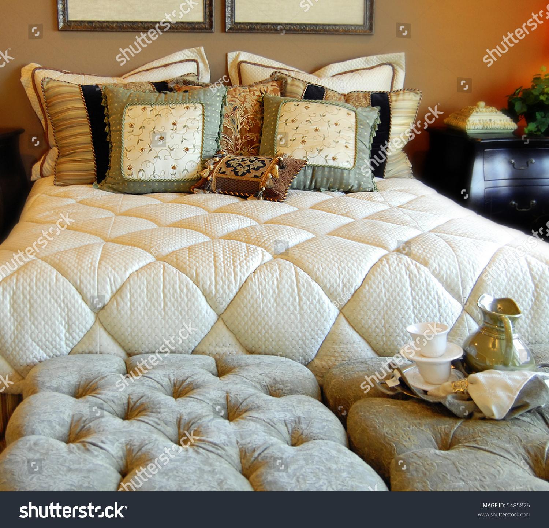 Comfortable Bedroom Interior Design Stock Photo 5485876 ... on Comfortable Bedroom Ideas  id=53185