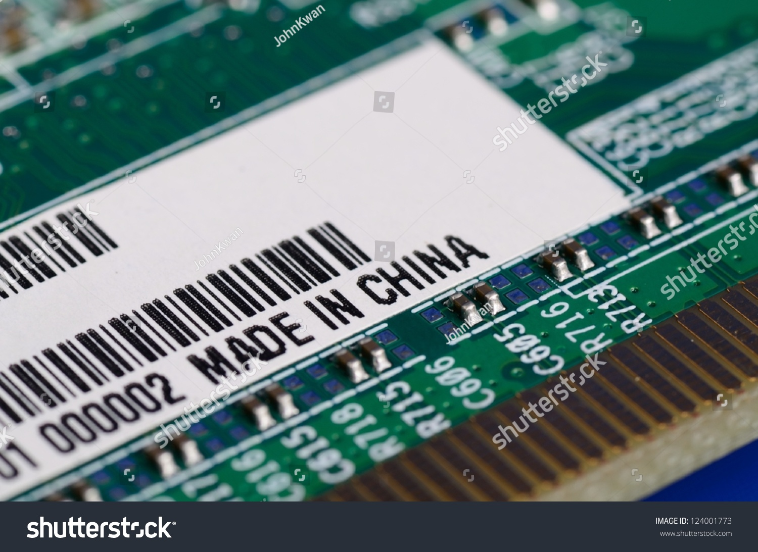 Computer Parts With The Label Made In China Stock Photo