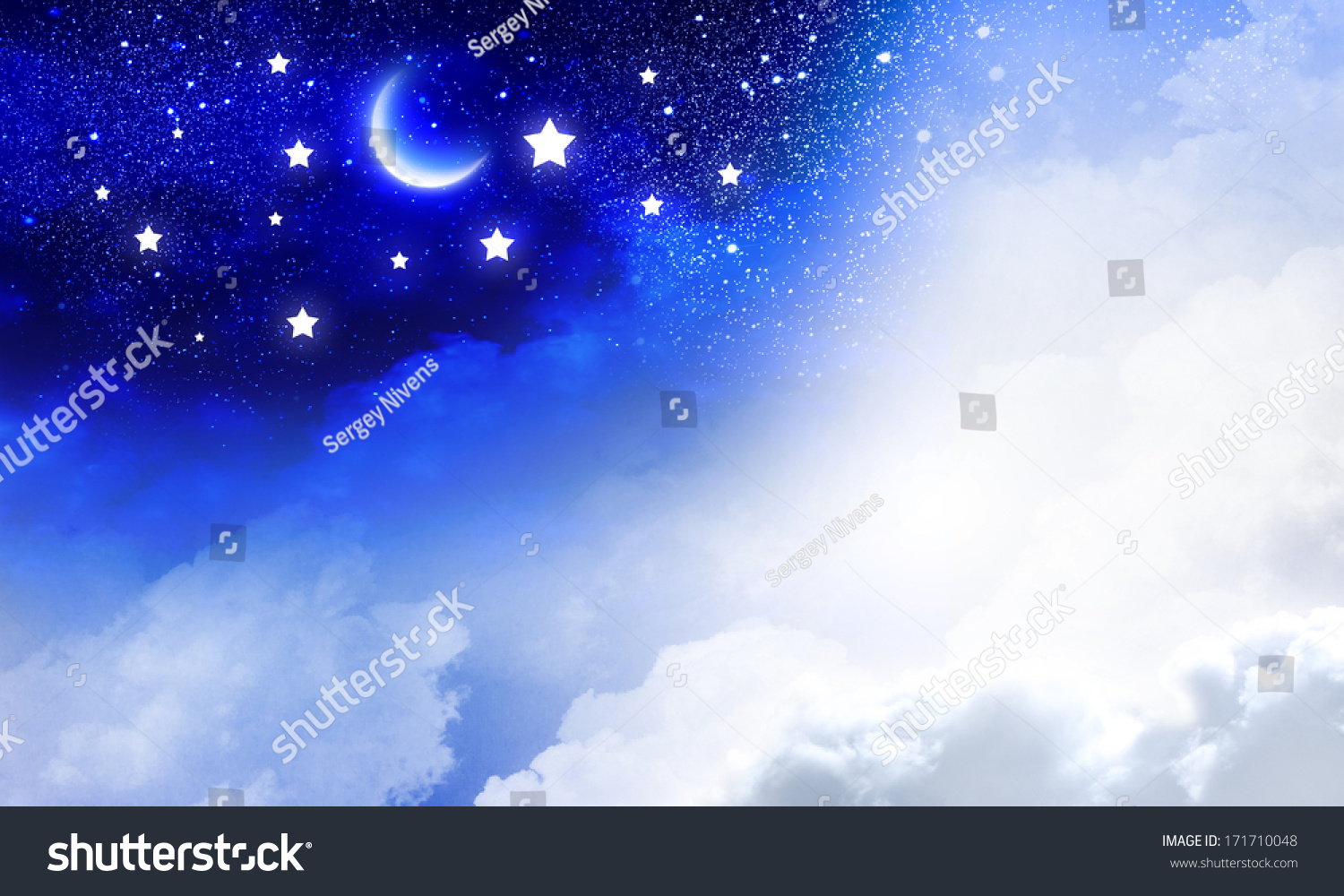 Conceptual Image Day Night Sky Stock Illustration