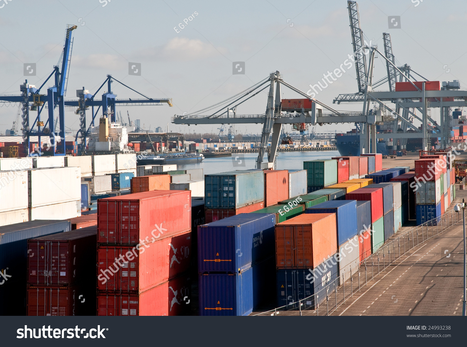 Container Terminal Stock Photo 24993238 : Shutterstock