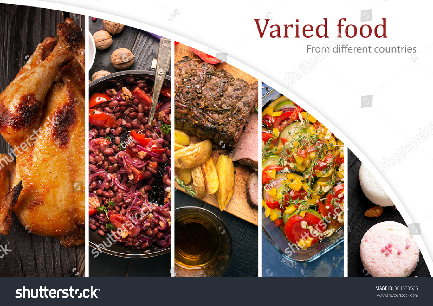 Cuisine Different Countries Western Eastern Dishes Stock