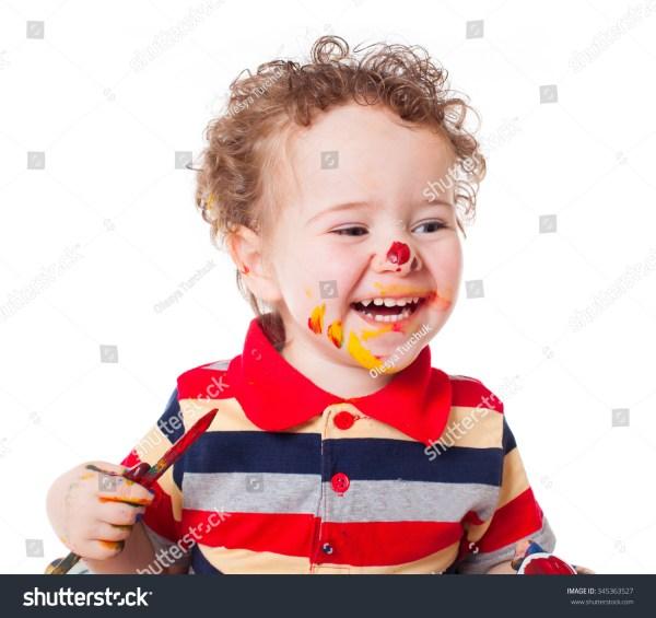 Cute Happy Baby Boy Kid Child Stock Photo 345363527 ...