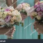 Decorative Beautiful Fresh Wedding Bouquets Colorful Stock Photo Edit Now 302404298