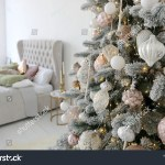 Elegant Christmas Tree White Pink Toys Stock Photo Edit Now 1217235511
