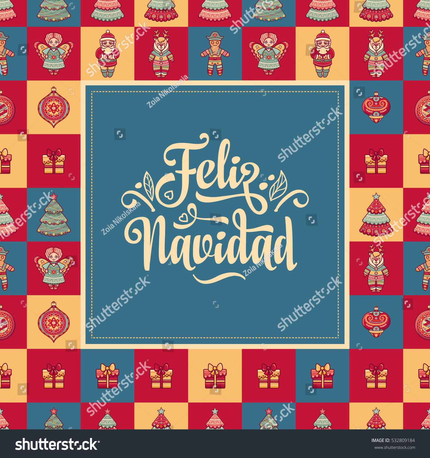 Feliz Navidad Xmas Card On Spanish Language Warm Wishes