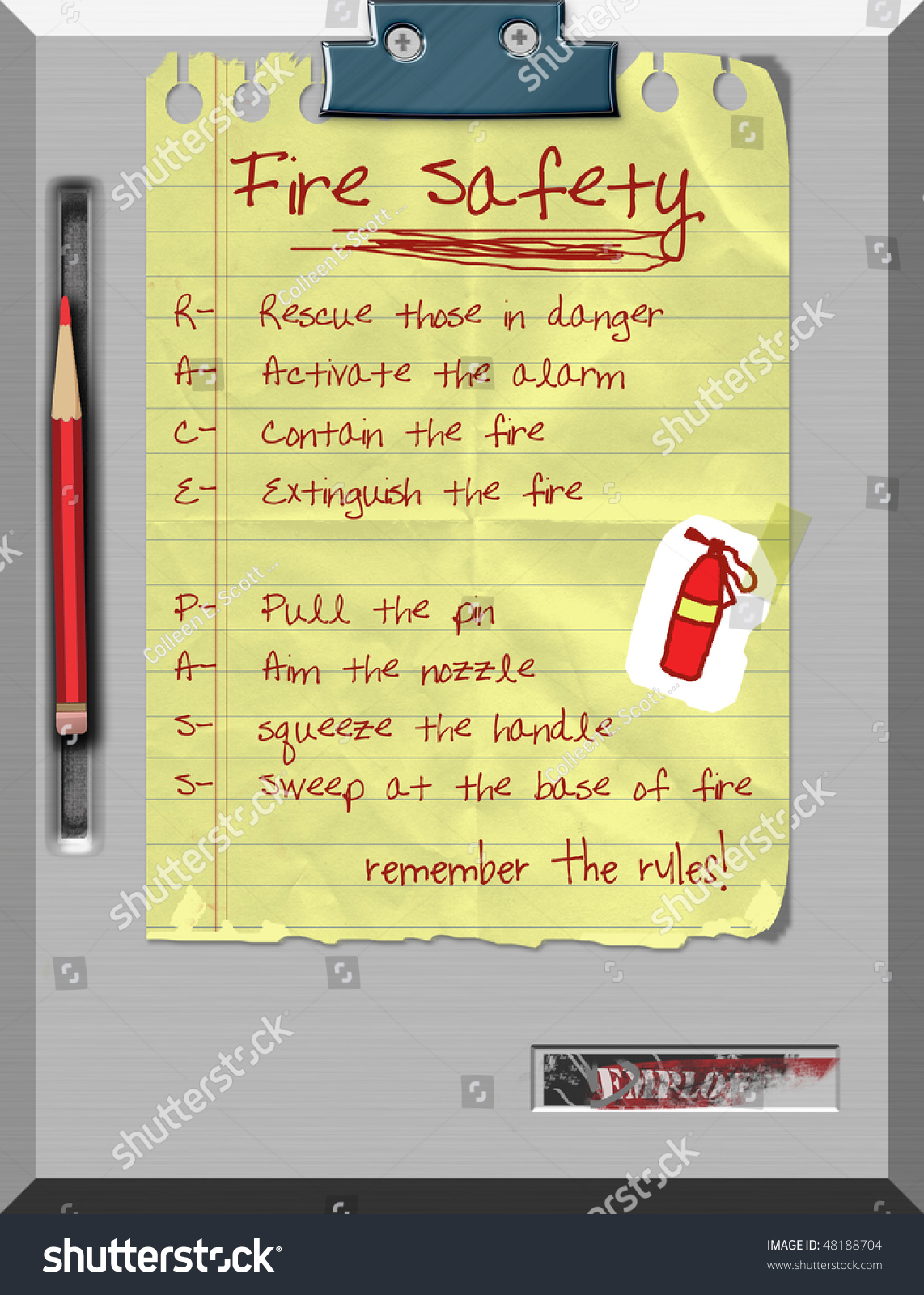 Fire Safety Race Pass Rules Stock Illustration