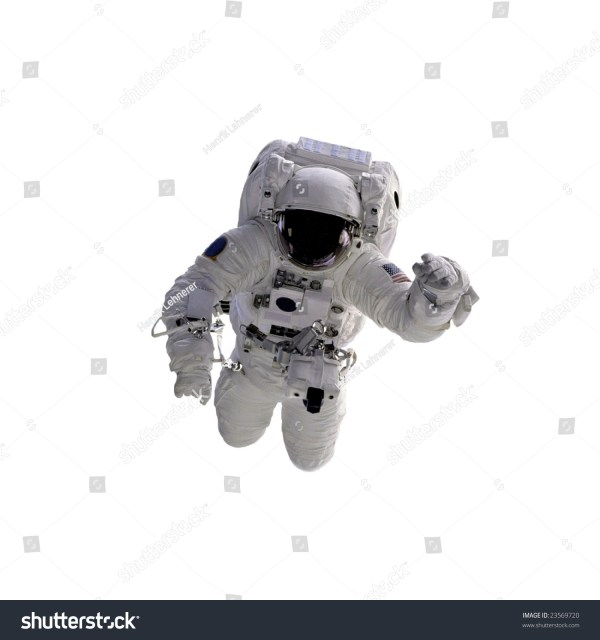 Flying Astronaut On White Background Some Stock Photo ...