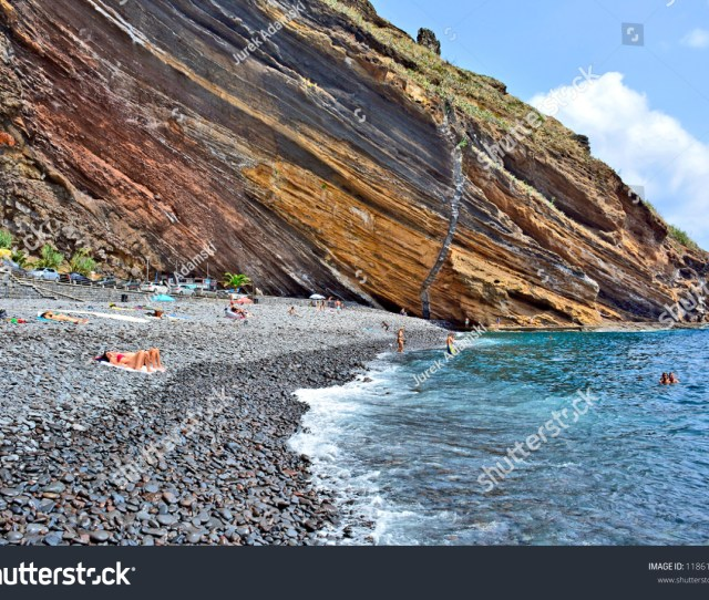 Garajau Madeira Portugal August   View Of The Rocky Beach
