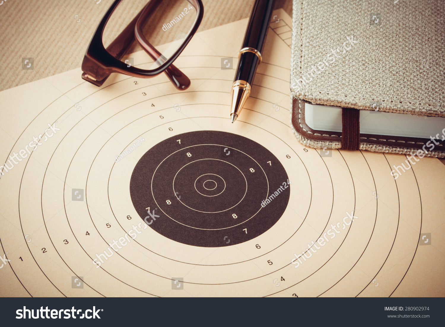 Goal Setting Target Objectives Planning Concept Stock Photo