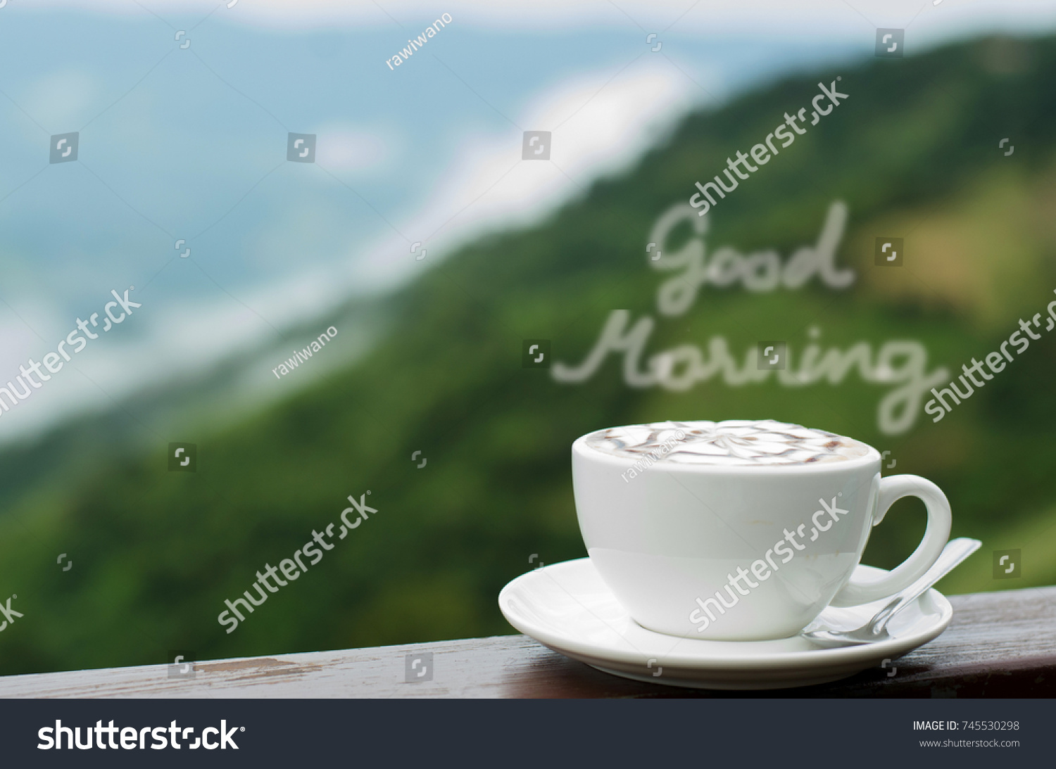 Good Morning Coffee Hot Coffee White Stock Photo Edit Now 745530298