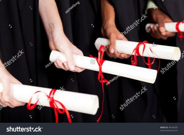 Graduates Holding Diploma Stock Photo 98186429 - Shutterstock